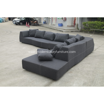 BEB Italian grand bend-sofa in fabric
